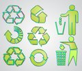 Most used recycle signs vector Stock Images