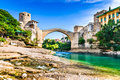 Mostar, Bosnia and Herzegovina - Stari Most, Old Bridge Royalty Free Stock Photo