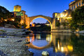 Mostar bridge, Bosnia & Herzegovina. Royalty Free Stock Photo