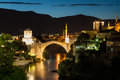 The mostar bridge old in bosnia and herzegovina Stock Image