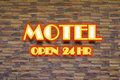 Motel and hr neon sign red Royalty Free Stock Images