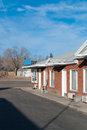 Motel by a road blue pine in panguitch utah usa Stock Image