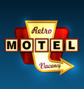Motel roadsign Royalty Free Stock Photo