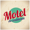 Motel sign - Air conditioned Stock Photography
