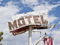 Motel Sign Ruin Stock Photo