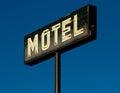 Motel sign vintage neon alberta canada Royalty Free Stock Photos