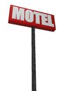 Motel sign on white background d illustration Stock Photos