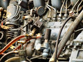 Moteur diesel Photo stock
