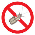 Moth pest is prohibited. Stock Image