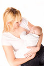 Mother with baby breastfeeding Stock Photo