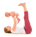 Matka a dieťa gymnastika jóga cvičenie