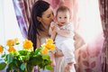 Mother with baby happy and her Royalty Free Stock Images