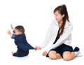 Mother and baby having fun Royalty Free Stock Photo