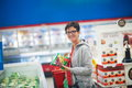 Mother with baby in shopping Royalty Free Stock Photo