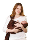 Mother with baby in a sling Royalty Free Stock Images