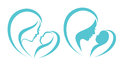 Mother and baby symbol Royalty Free Stock Photo