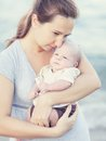image photo : Mother and baby