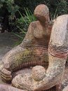 Mother and Child Statue Royalty Free Stock Photo