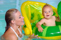 Mother and Child  Swimming Royalty Free Stock Photo
