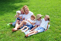 Mother and Children Laughing Stock Photography