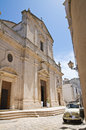 Mother church of assumption ceglie messapica puglia italy perspective Royalty Free Stock Photos