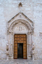 Mother church in conversano portal of the south of italy Stock Images