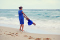 Mother and daugher playing on beach Royalty Free Stock Photo