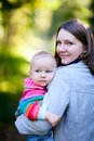 Mother and daughter in autumn park Royalty Free Stock Photography