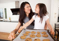 Mother and Daughter Baking Cookies Stock Photography