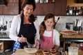 Mother and daughter baking at home Royalty Free Stock Photo