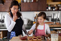 Mother and daughter baking at home Royalty Free Stock Photography
