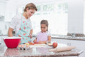 Mother and daughter baking together Royalty Free Stock Photo