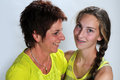 Mother and daughter best friends Royalty Free Stock Images