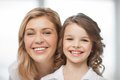 Mother and daughter bright closeup picture of Royalty Free Stock Photos