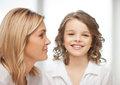 Mother and daughter bright closeup picture of Royalty Free Stock Image