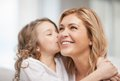 Mother and daughter bright picture of hugging Stock Photography