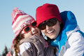 Mother And Daughter Having Fun On Ski Holiday Royalty Free Stock Photography