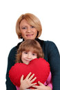 Mother and daughter with heart Royalty Free Stock Photo
