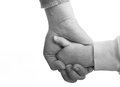 Mother and daughter holding hands care support because sometimes everybody needs a helping hand Stock Images