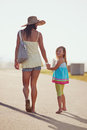 Mother daughter holding hands Royalty Free Stock Photo