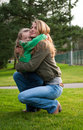 Mother and daughter hugging Royalty Free Stock Photos