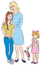 Mother and daughter at menarche Royalty Free Stock Photo