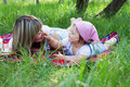 Mother with daughter outdoors Royalty Free Stock Images