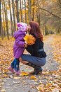 Mother and daughter in a park Stock Image