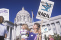 Mother and daughter participating in pro choice rally missouri Royalty Free Stock Photography