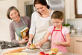Mother and daughter prepare dough home cake Royalty Free Stock Photography