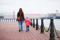 Mother and daughter in Saint-Petersburg Royalty Free Stock Photography