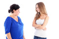 Mother and daughter in stand off Stock Photography