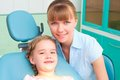 Mother and daughter visit the dentist Royalty Free Stock Photography