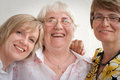 Mother and daughters. Stock Photography
